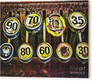 Cash Out Wood Print by Colleen Kammerer