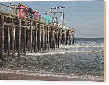 Casino Pier  Seaside  Nj Wood Print by Neal Appel
