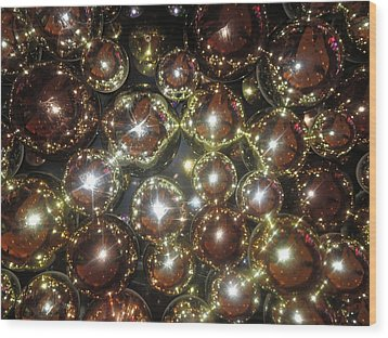 Wood Print featuring the photograph Casino Sparkle Interior Decorations by Navin Joshi