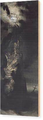 Casquets Lighthouse Wood Print by Victor Hugo