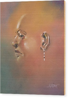 Wood Print featuring the painting Cast Reflectionn 1 by Al Brown