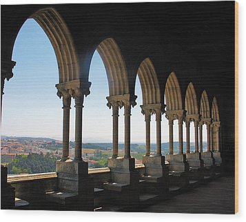 Castel Leiria Wood Print by Gerry Bates