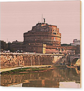Wood Print featuring the photograph Castel Sant 'angelo by Brian Reaves