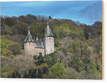 Castell Coch Cardiff Wood Print by Steve Purnell