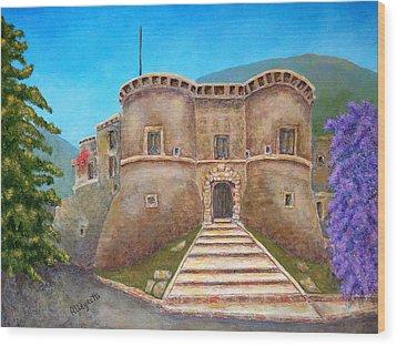 Castello Ducale Di Faicchio Wood Print by Pamela Allegretto