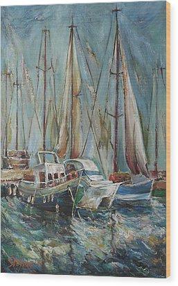 Castellon The Port Wood Print by Stefano Popovski