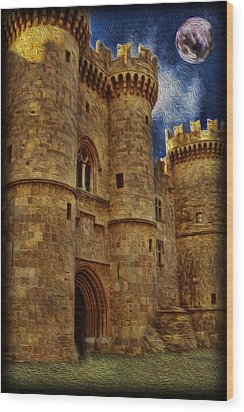 Castle By Moonlight Wood Print by Lee Dos Santos