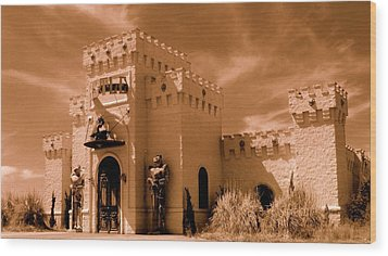 Wood Print featuring the photograph Castle By The Road by Rodney Lee Williams