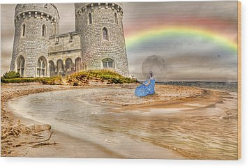 Castle By The Sea Wood Print by Betsy Knapp