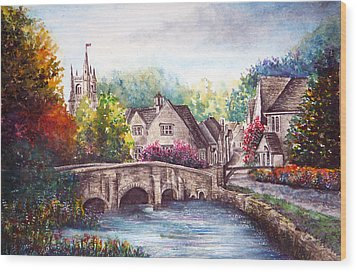 Castle Combe Wood Print by Ann Marie Bone