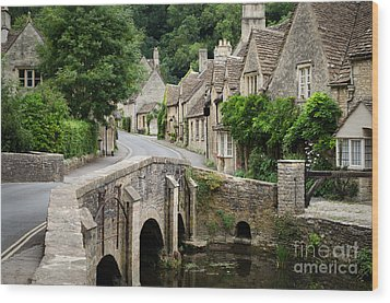 Castle Combe Cotswolds Village Wood Print