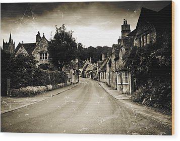 Wood Print featuring the photograph Castle Combe  by Stewart Scott