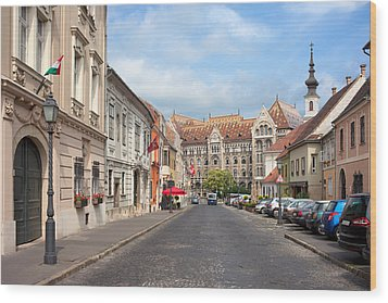 Castle District In Budapest Wood Print by Artur Bogacki