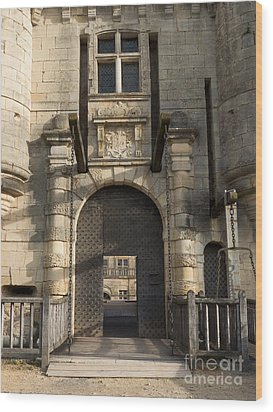 Wood Print featuring the photograph Castle Drawbridge Entry by Paul Topp