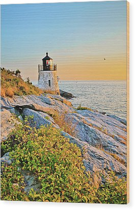 Castle Hill Lighthouse 1 Newport Wood Print