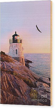 Wood Print featuring the photograph Castle Hill Lighthouse 2 Newport by Marianne Campolongo