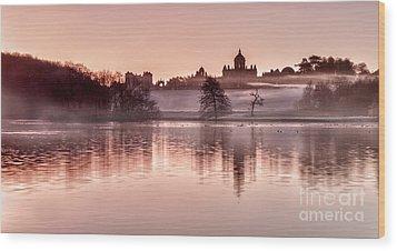 Castle Howard Dawn Wood Print by Janet Burdon