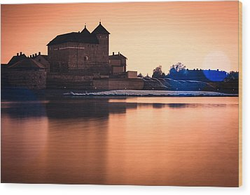 Castle In Artistic Infrared Image Wood Print