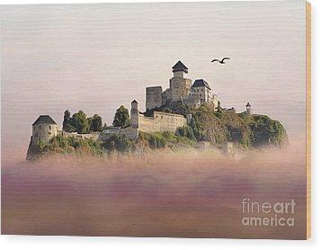 Castle In The Air IIi. - Trencin Castle Wood Print by Martin Dzurjanik