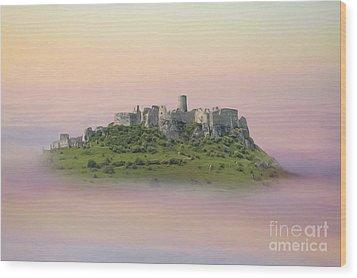 Castle In The Air. - Spis Castle Wood Print by Martin Dzurjanik