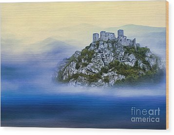 Castle In The Air V. - Strecno Castle Wood Print by Martin Dzurjanik