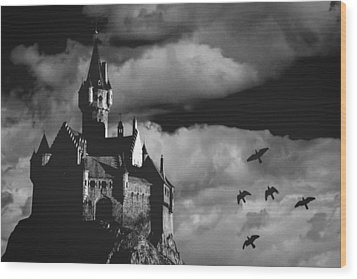 Castle In The Sky Wood Print by Bob Orsillo