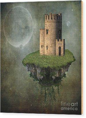 Castle In The Sky Wood Print by Juli Scalzi