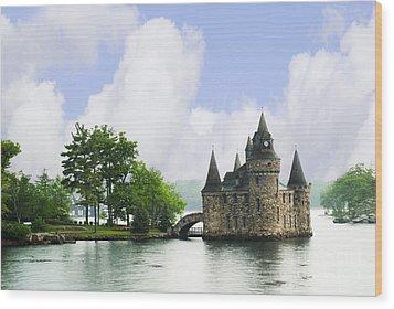 Castle In The St Lawrence Seaway Wood Print