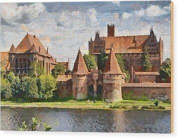 Castle Malbork Poland Wood Print