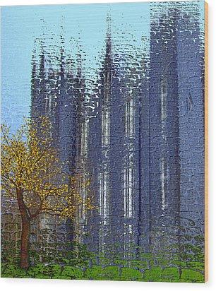 Wood Print featuring the digital art Castle by Nina Bradica