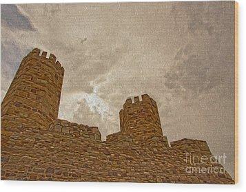 Castle  Wood Print by Nur Roy