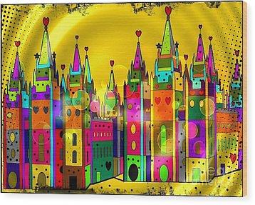 Castle Of Dreams By Nico Bielow Wood Print