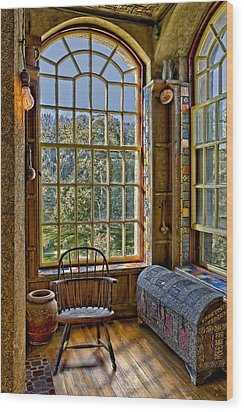Castle Office Wood Print by Susan Candelario
