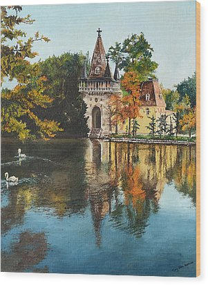 Castle On The Water Wood Print by Mary Ellen Anderson