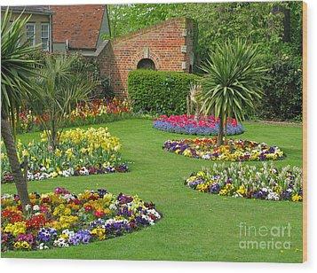 Castle Park Gardens  Wood Print by Ann Horn