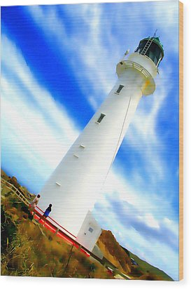Castle Point Lighthouse Wood Print
