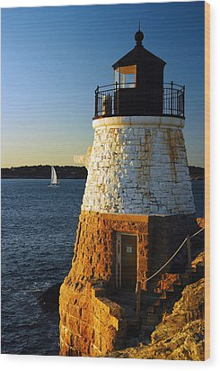 Castle Rock Lighthouse Wood Print by James Kirkikis