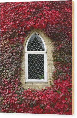 Castle Window Wood Print by Eva Csilla Horvath