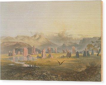 Castlerigg Stone Circle Near Keswick Wood Print by James Baker Pyne