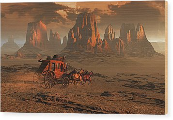 Castles In The Sand Wood Print by Dieter Carlton