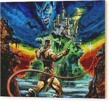 Castlevania Wood Print by Joe Misrasi