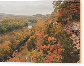 Castlewood State Park Wood Print by Scott Rackers