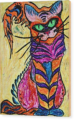 Cat 3 Wood Print