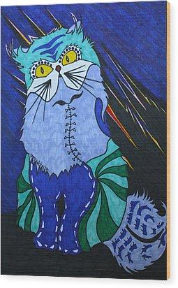 Cat 4 Wood Print