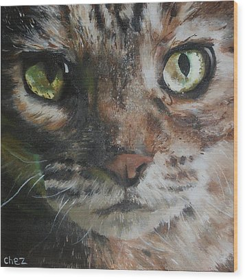CaT Wood Print by Cherise Foster