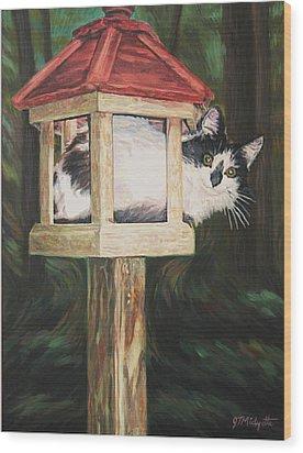 Cat House Wood Print