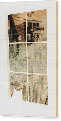Cat Perspective Wood Print by Jacqueline McReynolds