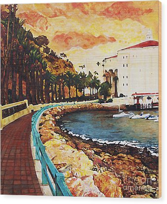 Catalina Island Wood Print by Carrie Jackson