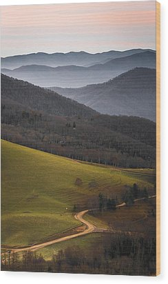 Cataloochee Valley Sunrise Wood Print