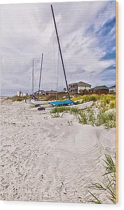 Wood Print featuring the photograph Catamaran by Sennie Pierson
